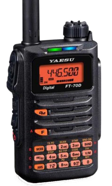 Yaesu - FT-70DE - C4FM/FM 2m/70cm Dual Band Handheld - XBS TELECOM s a