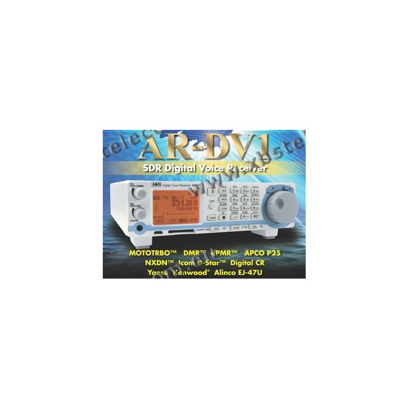AOR - ARDV-1 - Receiver 10Khz à 1 3Ghz - Analog & Digital Receiver