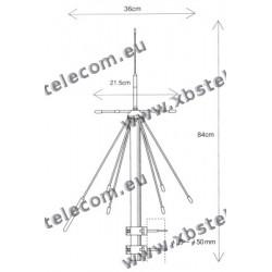 DIAMOND - D-190 - Discone 84cm - 100 Khz à 1,5 Ghz