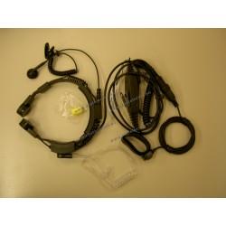 OEM - X-27D - Microfono a gola con auricolare VOX + PTT