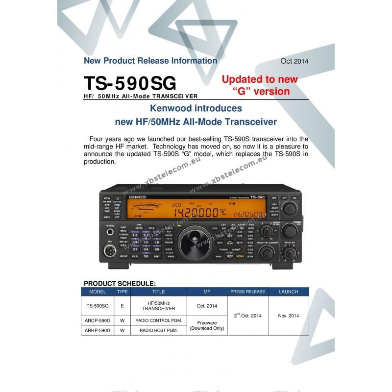 Kenwood - TS-590SG - HF + 6 M - XBS TELECOM s a