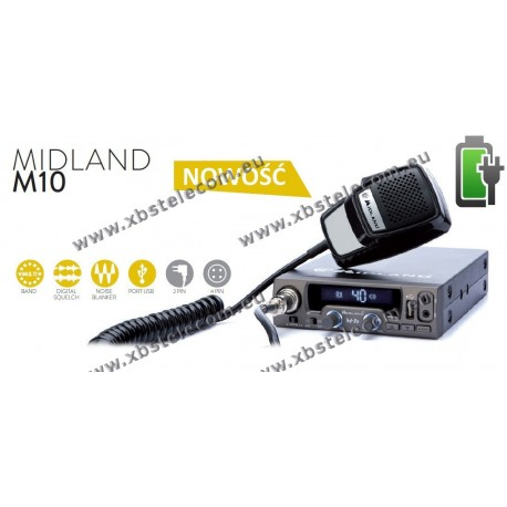 MIDLAND - M-10 - Multi Channel CB Mobile Transceiver