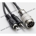 FlexRadio - FLEX-FOSTER-Cable-6400 - Mic Cable 8pin to 6400