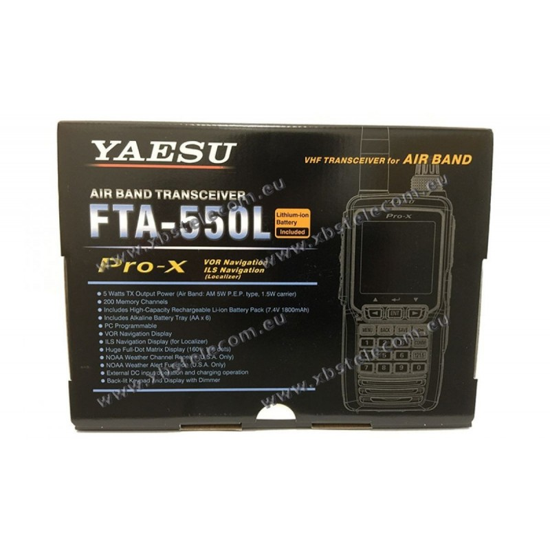 Yaesu FTA-550L Handheld Com//Nav Transceiver w// Li Ion Battery