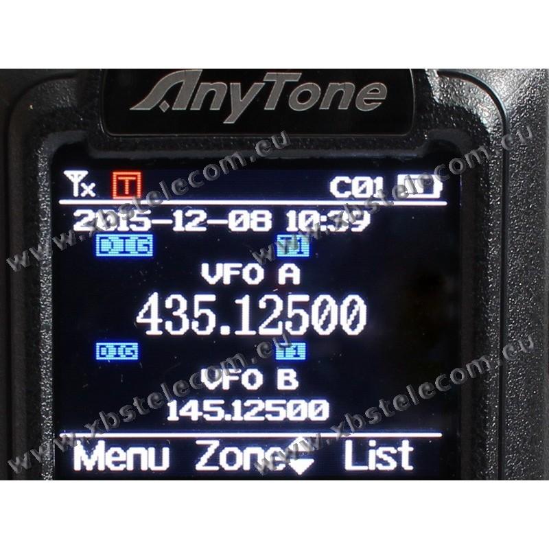 ANYTONE - D-878UV-v2 - VHF/UHF ANALOG DMR - Bluetooth