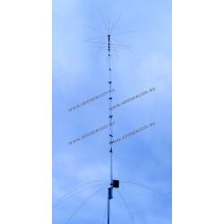 HY GAIN - AV-680 - antenne verticale 9 mètres 80/40/30/20/17/15/12/10/6 groupes