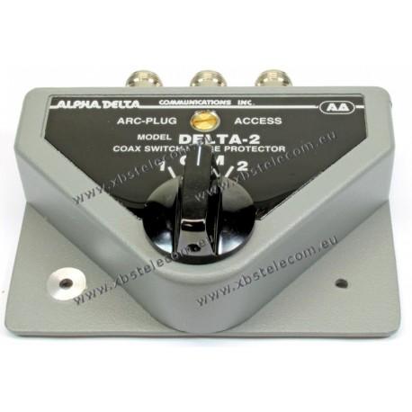 ALPHA DELTA - DELTA-2B - Coaxial 2-way switch 1500 Watt CW