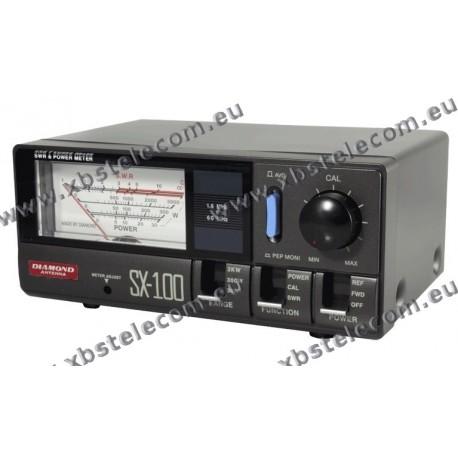 DIAMOND - SX-100 - SWR mètre / puissance de 1,6 à 60 MHz 30/300/3000 Watt