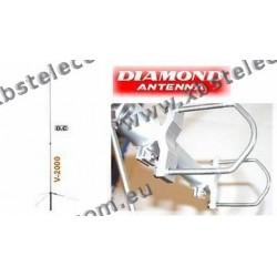 DIAMOND - V-2000 - Antenna Tribanda 50/144/430 MHz