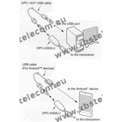 ICOM - OPC-2350LU - Cable de programmation