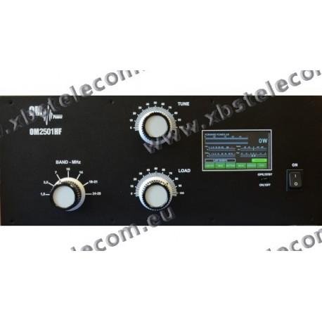 OM POWER - OM-2501HF - Amplifier 1,8 to 29,7 MHZ + WARC - 2.500 W SSB
