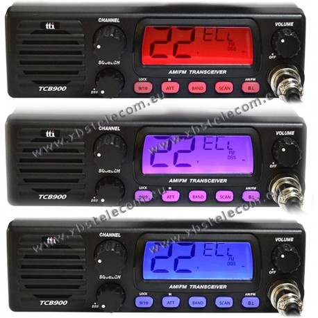 TTI - TCB-900CBRADIO - Multi Channel CB Mobile Trans.12/24v