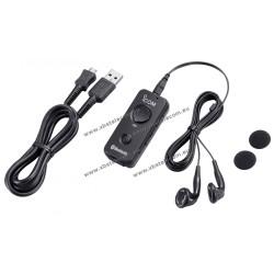 ICOM - VS-3 - Microphone oreillette Bluetooth avec bouton PTT