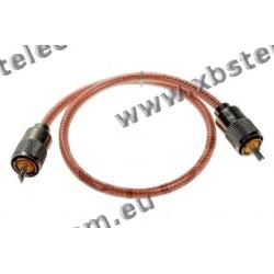 OEM - PL-PL RG8 50cm - PL259  to PL259 CABLE TRANSPARENT 50 CM
