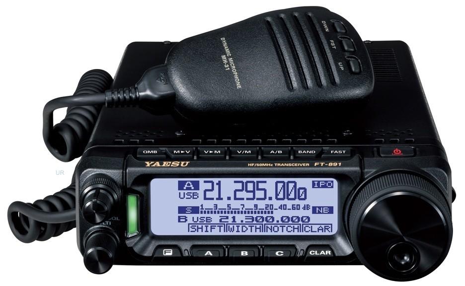 YAESU - FT-891 - HF/6M Mobile 100W - All Modes - XBS TELECOM
