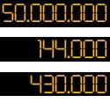 HF - 6M/50Mhz - VHF - UHF