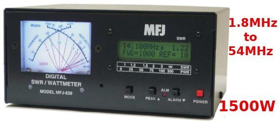 MFJ-828 - SWR/POWER/FREQUENCE METRE DIGITAL 1500 WATT