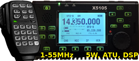 Xiegu X-5105 portable 0-55MHz