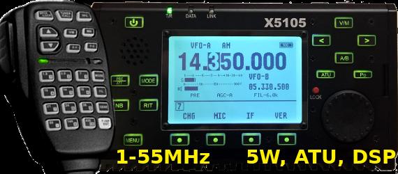 Xiegu X-5105 portatile 0-55MHz